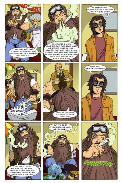 "Hairy Pothead Comic #1 - ""Yer a Weedster!"""