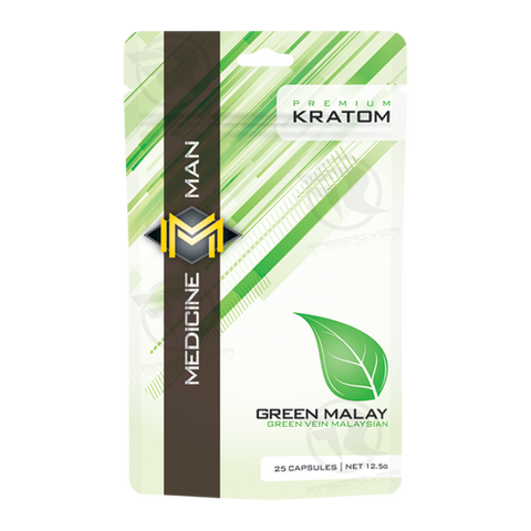 Medicine Man - Green Malay Kratom - 25caps