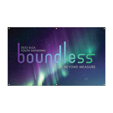 ELCA Youth Gathering boundless Northern Lights Banner