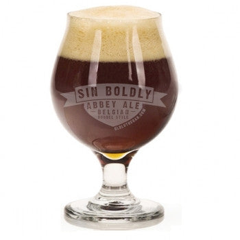 Sin Boldly Abbey Ale Glass