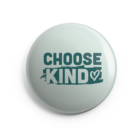 Choose Kind (Heart Design) Button - 1 inch