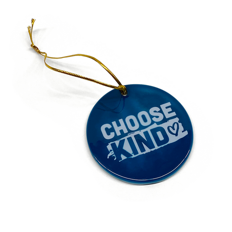 Choose Kind Round Ornament