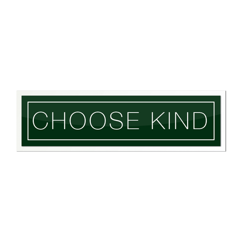 Choose Kind Sticker - Plain Font (Multiple Colors)
