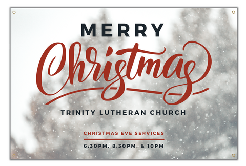 Custom Christmas Service Schedule Banner