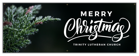Custom Merry Christmas Welcome Banner
