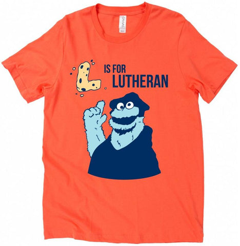 L is for Lutheran Cookie Unisex T-Shirt (Multiple Colors)
