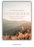Custom Confirmation Plaque