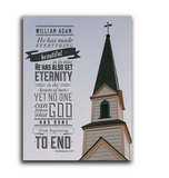 Ecclesiastes 3:11 Custom Confirmation Plaque