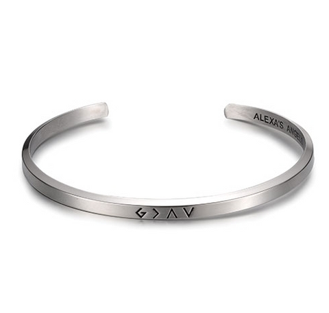 God Is Greater Bracelet (Multiple Colors)