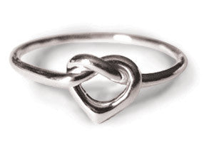 Sterling Silver Heart Knot