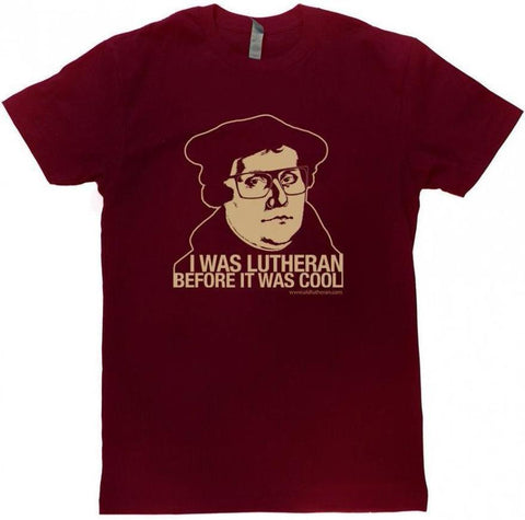 Hipster Lutheran Crew T-Shirt (Multiple Colors)
