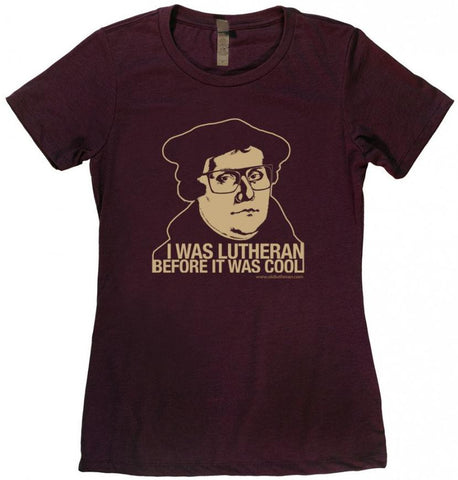 Hipster Lutheran Ladies T-Shirt