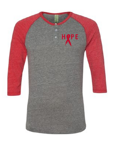 HOPE: World AIDS Prevention Raglan (Multiple Colors)