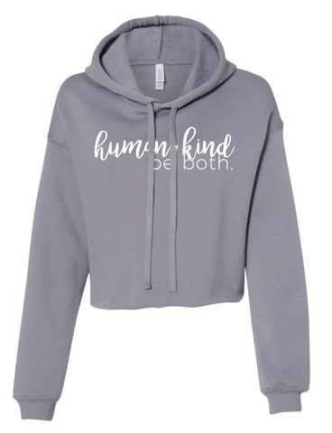 Human Kind Ladies Cropped Hooded Sweatshirt