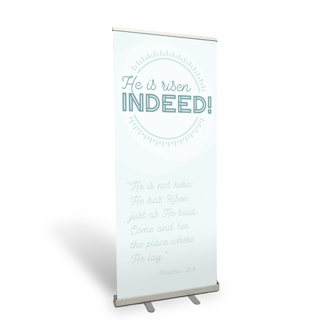 Indeed Retractable Banner