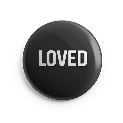LOVED Button Magnet