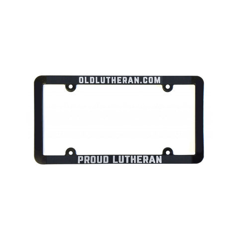 Proud Lutheran License Plate holder