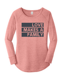 Love Makes a Family Raglan (Text)