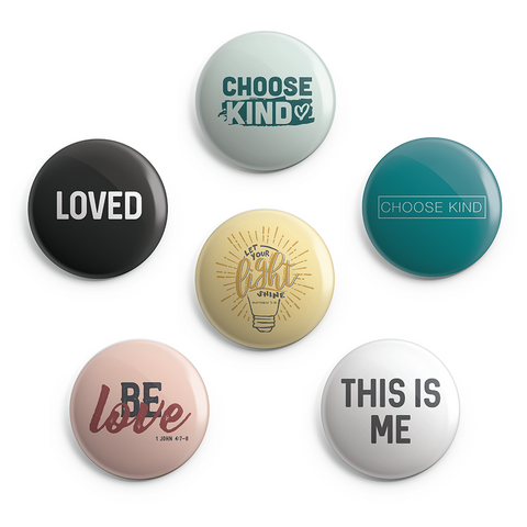 Love and Kindness Button Pack