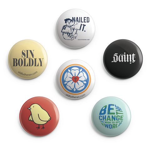 Lutheran Humor Button Pack