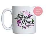 Floral Wreath Lutheran Mom Mug