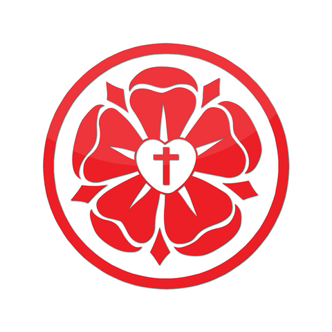 Luther Rose Decal (Red)