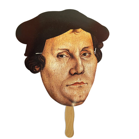 Martin Luther Mask on a Stick