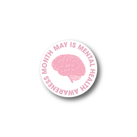 Mental Health Awareness (Brain) Sticker