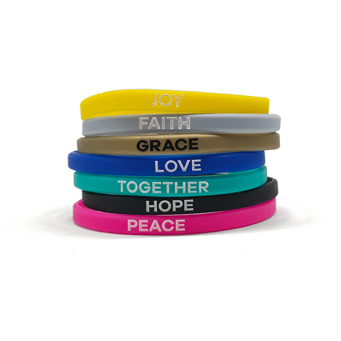 Peace by Piece Skinny Wristbands