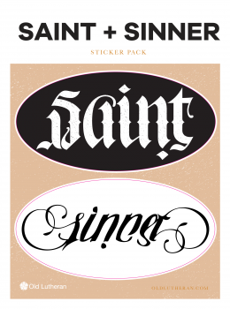 Saint Sinner Sticker Set