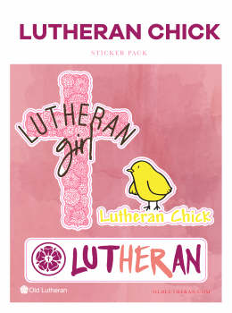 Lutheran Chick Sticker Set