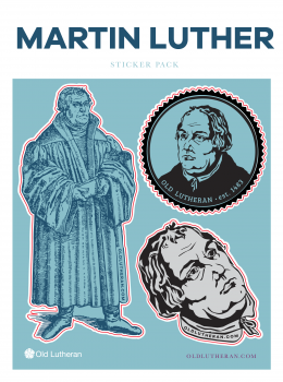 Martin Luther Sticker Set