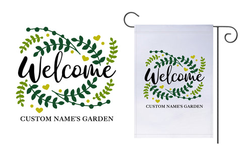 Custom Welcome Garden Flag