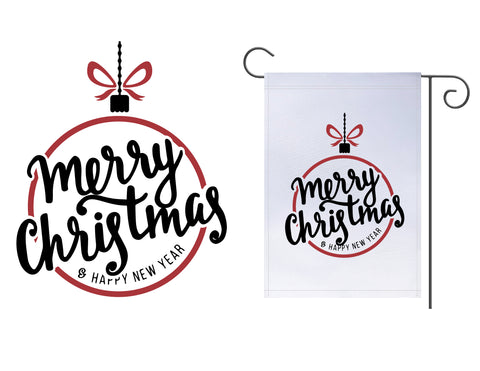 Merry Christmas Ornament Garden Flag