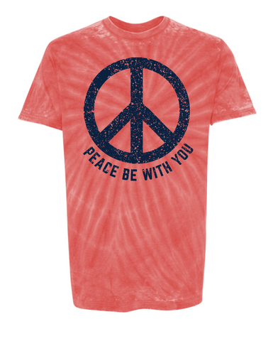 Peace Be With You Tie-Dye T-Shirt (Multiple Colors)