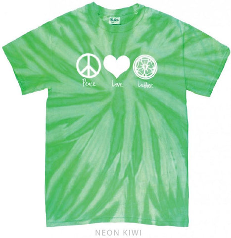 Peace Love Luther T-Shirt (Multiple Colors)