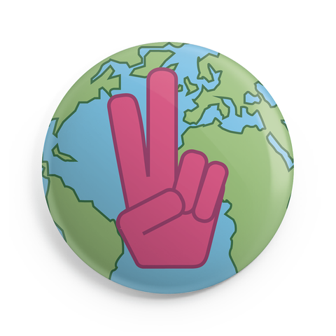 Peace on Earth Button - 2.25 inches