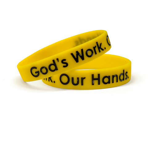 God's Work. Our Hands. Wristband