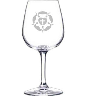 Luther Rose Wine Glass