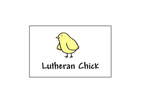 Lutheran Chick Tattoo 25 Pack