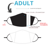 Adult Face Mask Spec Sheet. Choose Kind Striped Face Mask.