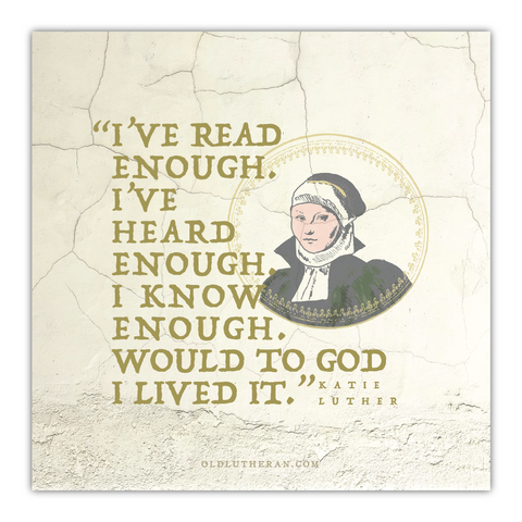 Katie Luther Quote Canvas Print
