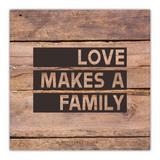 Love Makes a Family Canvas (Plain Text)