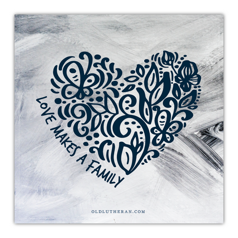 Love Makes a Family Canvas (Heart Design)