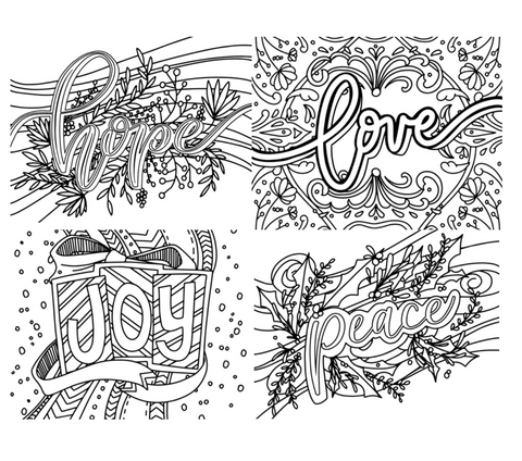 Advent Coloring Packet - Digital Download