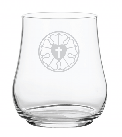 Luther Rose Stemless Stacking Wine Glass
