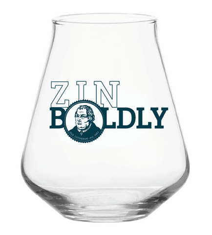 Zin Boldly Stemless Wine Glass