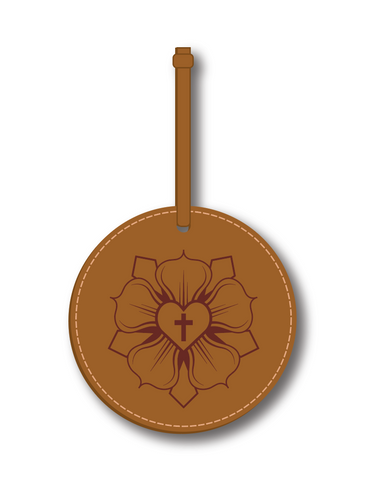 2020 Leatherette Luther Rose Ornament