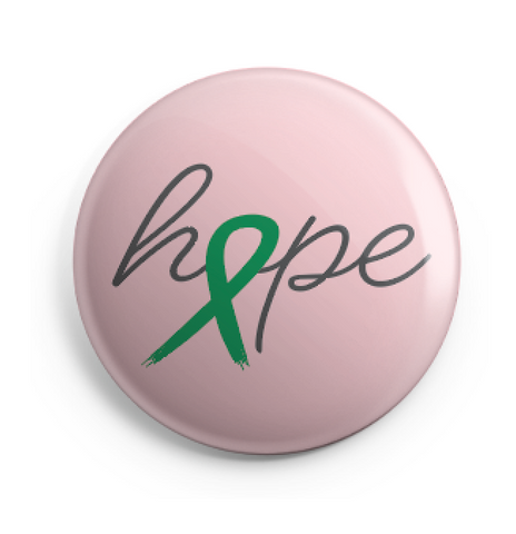 Hope Ribbon Button - 2.25 Inches