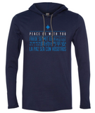 Peace Be With You Hooded Long Sleeve